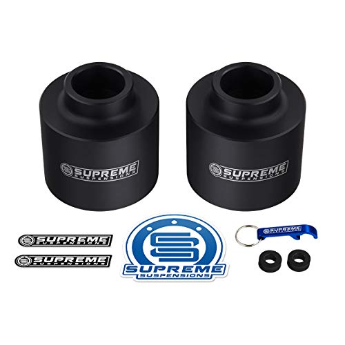 Supreme Suspensions - Rear Leveling Kit for Chevrolet Avalanche 1500, Suburban 1500, Tahoe and GMC Yukon 1500 3' Rear Lift High-Density Delrin Coil Spring Spacers 2WD 4WD (Black)