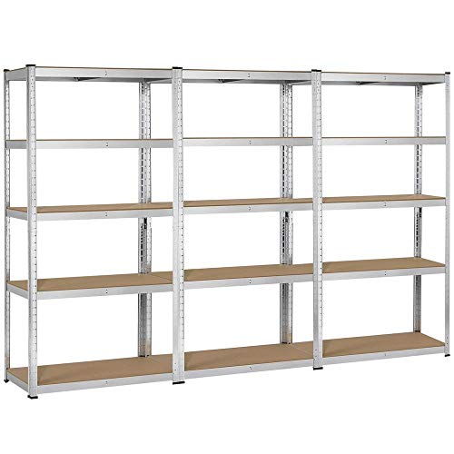 YAHEETECH Heavy Duty 5 Tier Metal Storage Garage Shelves Adjustable Boltless Shelving Units,71in H x...