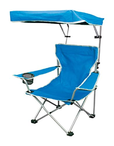 Quik Shade Folding Canopy Shade Camp Chair for Kids with Carry Bag