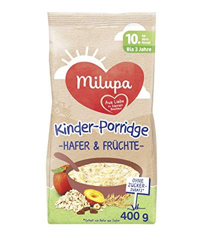 Milupa Kinder-Porridge Hafer & Früchte ab dem 10. Monat bis 3 Jahre, 400 g