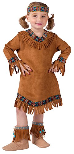 Fun World Costumes Native American Toddler Girl Costume, Brown, Large (3T-4T)