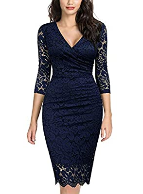 SIZE RECOMMEND: US 4/6(Small), US 8/10(Medium), US 12/14(Large), US 16(X-Large), US 18(XX-Large) Suit for Evening Party, Wedding Bridesmaid Wearing, Business Occasion. Deep V-Neck, Special Ruffles On the Front, Below Knees. Please Put Into A Laundry ...