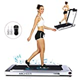 ANCHEER Under Desk Treadmill Folding Indoor,2 in1 Electric Exercise Treadmill,2.25HP Fitness Walking Running Machine with Remote Control&Digital Monitor&Bluetooth Speaker for Home Gym Office.