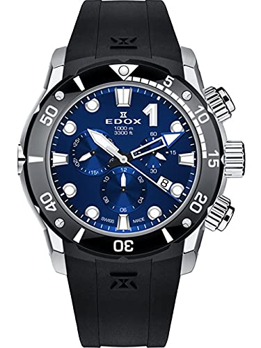 EDOX Herren-Armbanduhr CO-1 Chronograph Datum Analog Quarz 10242 TIN BUIN