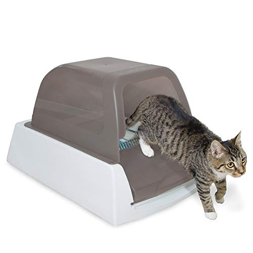 PetSafe ScoopFree Ultra Self-Cleaning Cat Litter Box – Automatic with Disposable Tray – Taupe Covered