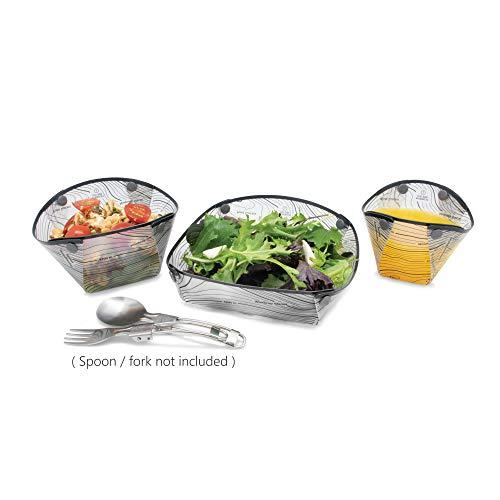 Fozzils Snapfold™ Solo Pack (Cup, Bowl, Dish) – Mist (New topo Design)