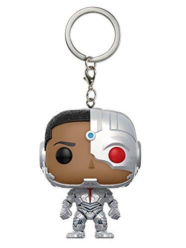 DC-Funko Keychain Llavero de Vinilo Cyborg, colección Justice League, Multicolor 13793