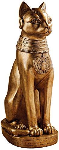 Design Toscano Goldene Bastet des alten Ägyptens, Figur