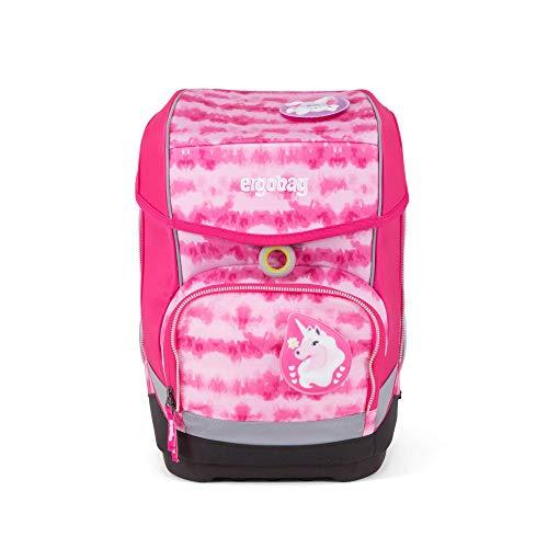 Ergobag cubo ZauBärwatte, ergonomischer Schulrucksack, Set 5-teilig, 19 Liter, 1.100 g, pink