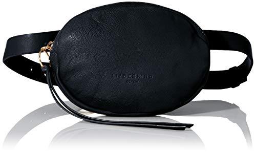 Liebeskind Berlin Damen Dive 2-Belt Bag Umhängetasche, Schwarz (Black), 3x14x20 cm