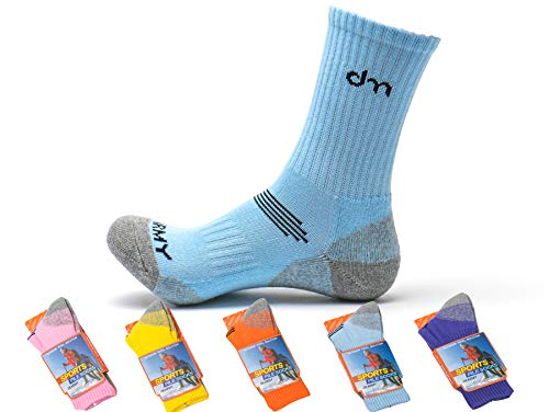 DearMy-5Pack-of-Womens-Multi-Performance-Cushioned-Athletics-Hiking-Crew-Socks-Moisture-Wicking-Year-Round
