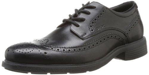 Geox U Dublin B, Zapatos de Cordones Brogue Hombre, Negro (BLACKC9999), 41,5 EU