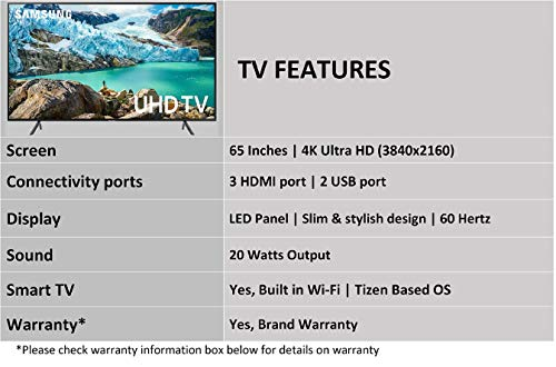 Samsung 163 cm (65 Inches) 4K Ultra HD Smart LED TV UA65RU7100KXXL (Black) (2019 Model) 3