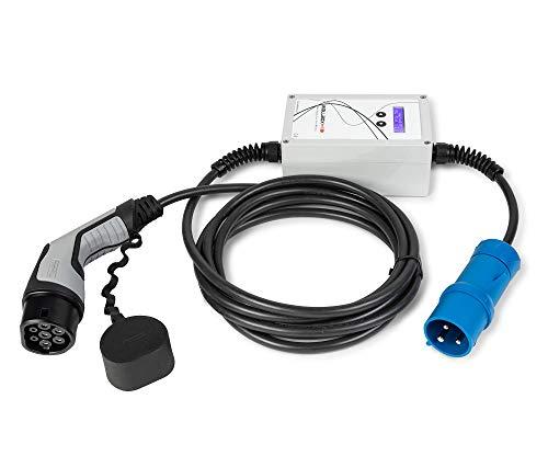 EV Portable WallboxOK Punto recarga portátil coches eléctricos Tipo 2 (IEC 62196, Mennekes) CEE. 16A 230V Monofásico