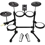 RockJam DDMESH500, 8 Piece Electronic Mesh Head, Easy Assemble Rack and Drum Module Including 30...
