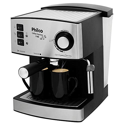 Coffee maker, Coffe Express 15 Bar, 2 cups, Black, 110V, Philco
