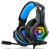 Casque Gaming PS4, Casque Gaming Xbox one Professionnel RGB 7 Couleurs Audio Stéréo...