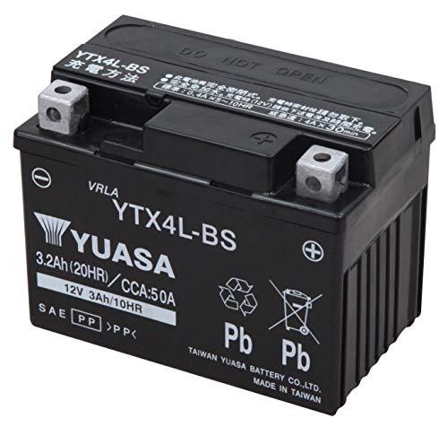 TAIWAN YUASA [ 台湾ユアサ ] シールド型 バイク用バッテリー [YT4L-BS高性能版] YTX4L-BS ブラック