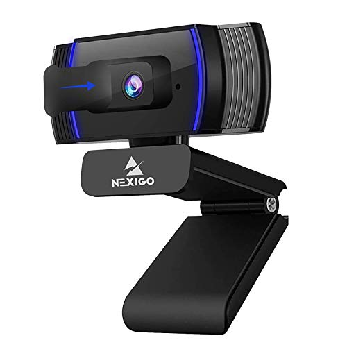 2021 AutoFocus 1080p Webcam with Stereo Microphone and Privacy...