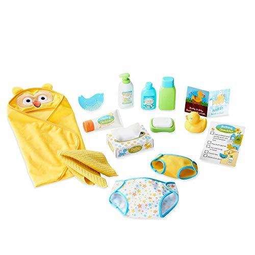 Melissa & Doug Changing and Bathtime Play Set