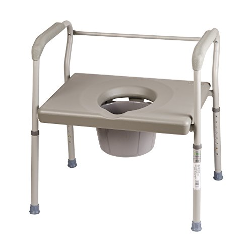 DMI Adjustable Bedside Commode for Adults Can Be Used with...