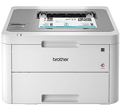 Brother HL-L3210CW Compact Digital Color Printer Providing Laser Printer Quality Results with Wireless, Amazon Dash Replenishment Ready, White