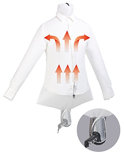 Sichler Haushaltsgeräte Reisebügelpuppe: 2in1-Reise-Bügelpuppe mit Haartrockner-Aufhängung, trocknet & glättet (Hemdentrockner)
