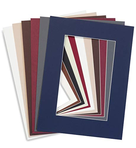 Generisch Individueller Zuschnitt von Passepartouts in unterschiedlichen Farben und Größen (30 x 40 cm, Polar White F02 gedecktes weiß mit Struktur)