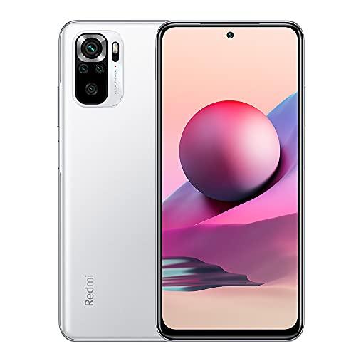"Xiaomi Redmi Note 10S Smartphone 6GB 128GB Teléfono,con NFC,MediaTek Helio G95 Procesador,6.43"" AMOLED DotDisplay,(64MP+8MP+2MP+2MP) Quad Camera,Dual SIM Card,AI Face Unlock Versión Global(Blanco)"
