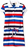 Tommy Hilfiger Girls' Adaptive Polo Dress with Magnetic Buttons and Tie Belt, White/Multi 4