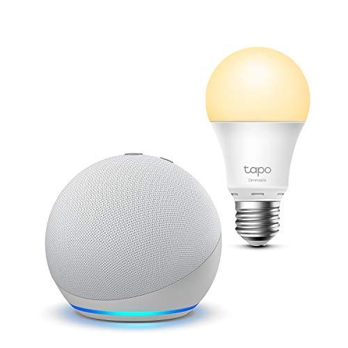 Echo Dot (4.ª generación), Blanco + TP-Link Tapo Bombilla...