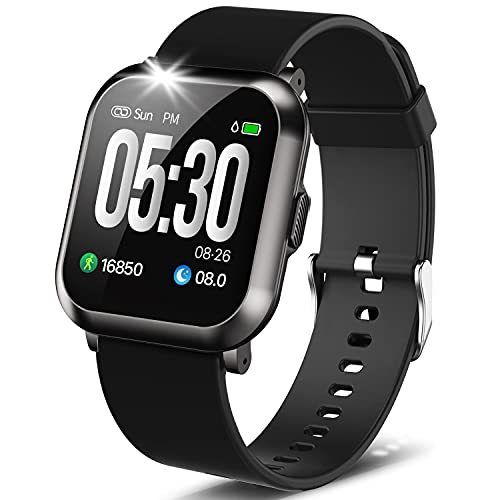 """DoSmarter Fitness Watch, 1.3"""" Touch Screen Smartwatch with..."""