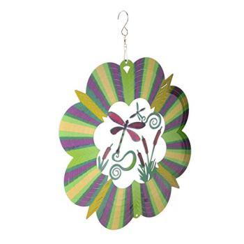 Garneck Spinner à Vent en Acier Inoxydable avec Crochet Suspendu Intérieur Extérieur Jardin Vent Décoration Artisanat Ornements 12 Pouces