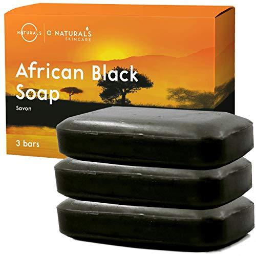 Jabón Africano Natural Negro Facial Cuerpo y Manos Limpieza