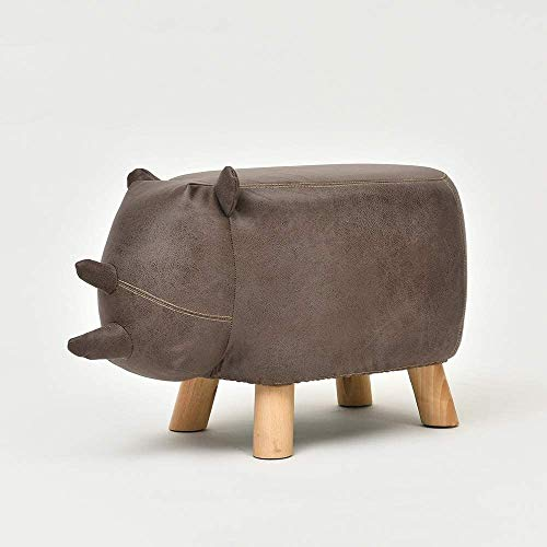 ガードレール Creative bar Stool Creative Cute Stool Can Be Removed and Washed Fashion Shoe Bench for Kids Toy Chair Animal Storage Stool bar Chair (Color : Rhinoceros Brown)