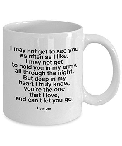 Long Distance Relationship Mug - I love You Mug - For Him...