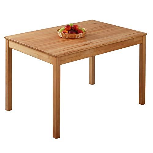 Krok Wood Tavolo da Pranzo Tomas in Legno Massello in Faggio 110x75x75 cm