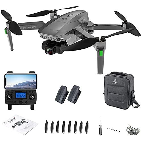 MXCYSJX ZLL SG907 Max Drone 4K per Adulti, Gimbal A 3 Assi, Drone GPS WiFi 5G FPV Quadricottero RC Senza Spazzole, 25 Minuti di Volo, Borsa Portatile,2 Batteries