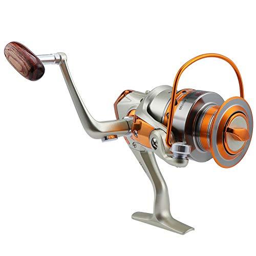 Coolty Canna da Pesca Spinning, Mulinelli da Pesca 12 Cuscinetti a Sfera Sinistra Destra Intercambiabili ad Alta velocit Ultraleggero Liscio Potente Filatura di Metallo