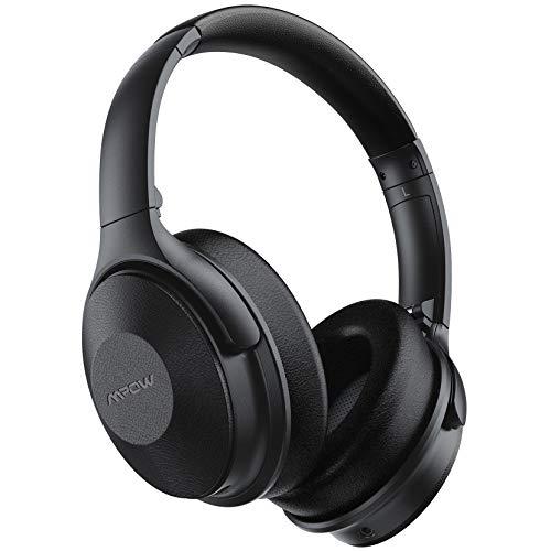 Noise Cancelling Kopfhörer mit 45Std, Mpow Bluetooth Kopfhörer Over Ear [Neue Version], Kopfhörer Kabellos mit Schnellladen und Mikrofon, ANC Kopfhörer mit 40mm HiFi Deep Bass für Telefon/TV/PC