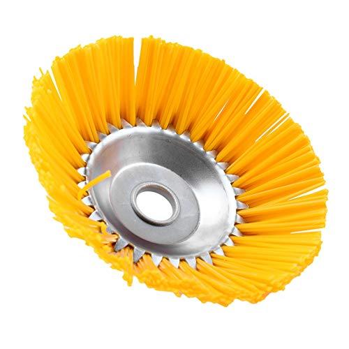 Domilay Paletta universale in nylon per decespugliatore, resistente, per giardino, confetti, AuuEn, con coltello, 200 mm, foro interno 25,4 mm