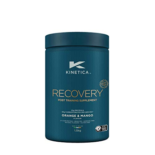 Kinetica Recovery Powder, Post Exercise Hydration, Muscle Repair and Energy Store Replenisher, 20 Servings, Orange and Mango, 1.5kg