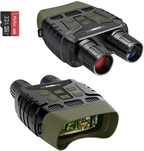 COOLIFE Binocolo Visione Notturna con LCD TFT 2,31',Fotocamera Digitale a Infrarossi (IR) ad alta Portata fino a 300 m / 984ft per Foto e Registrazione Videocon Scheda Memoria 32G