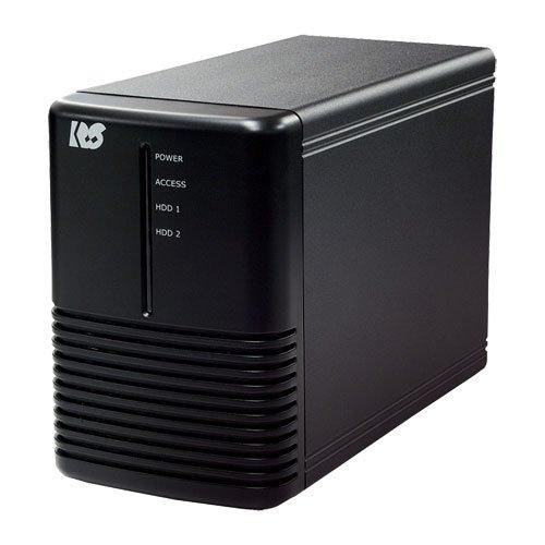 ラトックシステム USB3.0 RAIDケース (HDD2台用) ブラック RS-EC32-U3RX