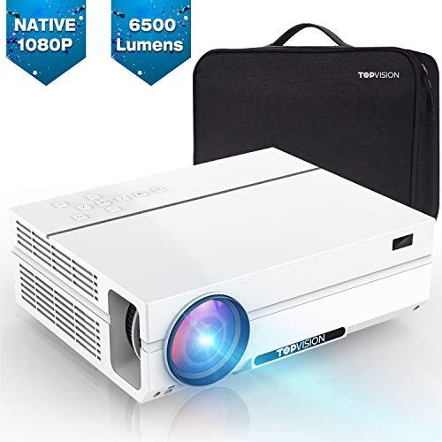 TOPVISION Videoproiettore da 6500 Lumen con 80.000 Ore di Estensione, Proiettore Full HD 1080P Nativo, Supporto 4K 300'...
