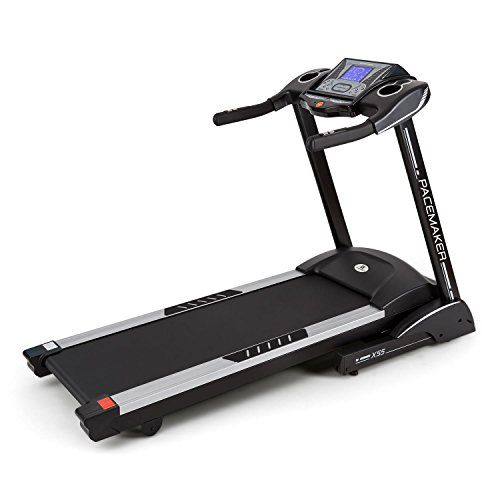 Capital Sports Pacemaker X55 - Tapis roulant, 2-22 km/h, LCD, 25 programmi, Misuratore d i impulsi,...