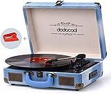 Platine Vinyle Blue Tooth, dodocool Tourne Disque Rétro Portable, Trois...