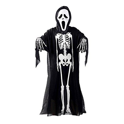 Eizur Scheletro Costumi di Halloween Fantasma Maschera Guanti Mantello Set Orrore Demoni Vampiro...