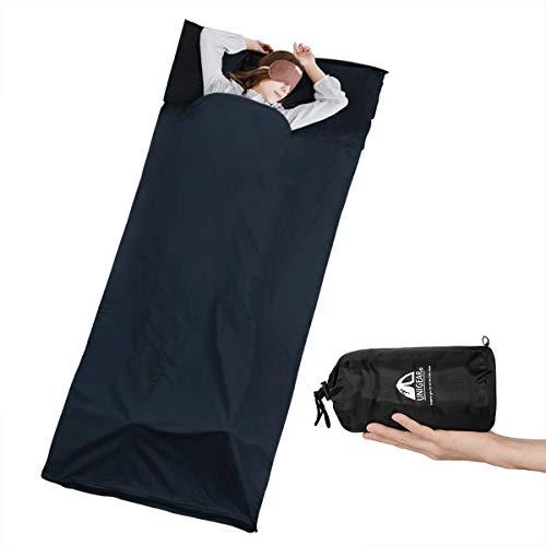 Unigear Drap de Sac de Couchage, 220x90 cm Drap de Couchage avec Fermeture...