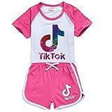 Maglia e pantaloncini TikTok per bambine e ragazze